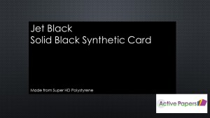 BLACK Poly Art Synthetic Card 1500microns