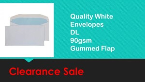 DL Envelope 90gsm White Gummed 1000