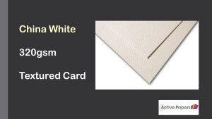 China White Textured Card 320gsm